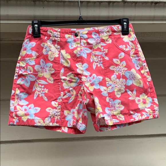 Talbots Pants - Early 2000s Talbots Kids Floral Shorts